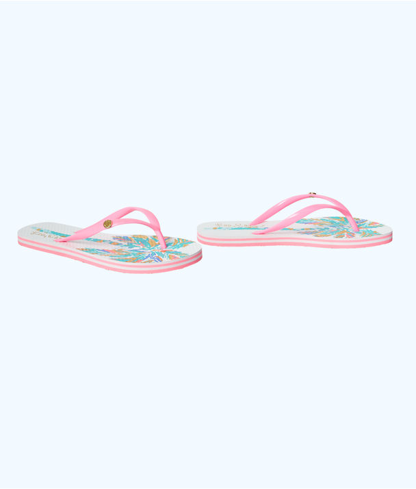 Pool Flip-Flop, Resort White Palm Engineered Shoe, large