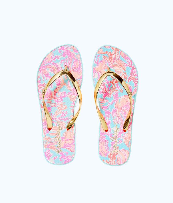 Pool Flip-Flop, Seasalt Blue Shell We Dance Shoe, large