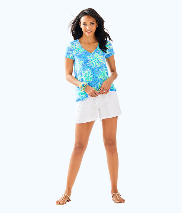 Etta V-Neck Top, Bennet Blue Tropic Like Its Hot, large