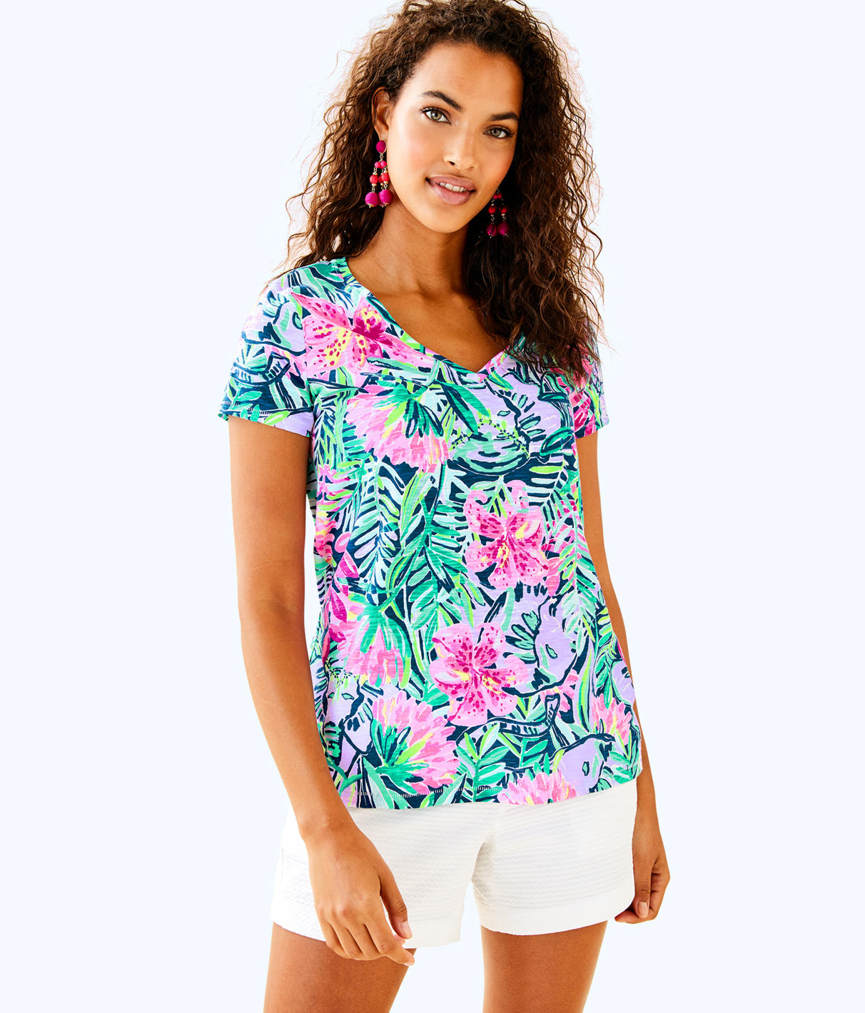 Lilly Pulitzer Lilly Pulitzer Womens Etta V-Neck Top
