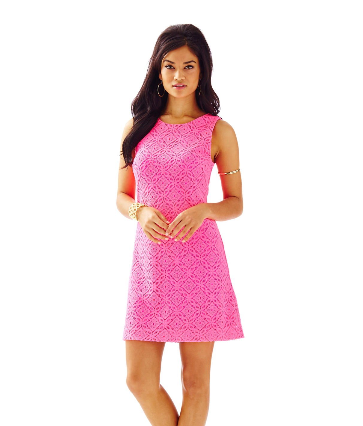 Lilly Pulitzer Callie Knit Lace Shift Dress