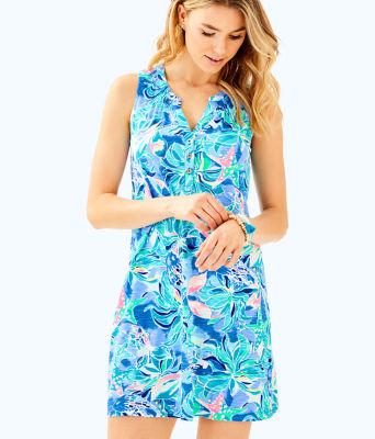 Sleeveless Essie Dress, Bennet Blue Celestial Seas, large 0
