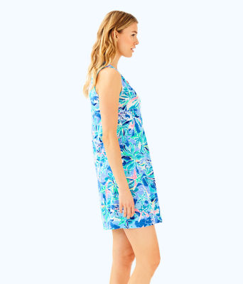 Sleeveless Essie Dress, Bennet Blue Celestial Seas, large 2