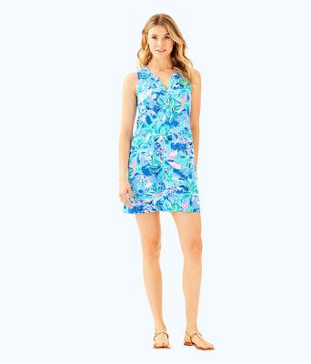 Sleeveless Essie Dress, Bennet Blue Celestial Seas, large 3