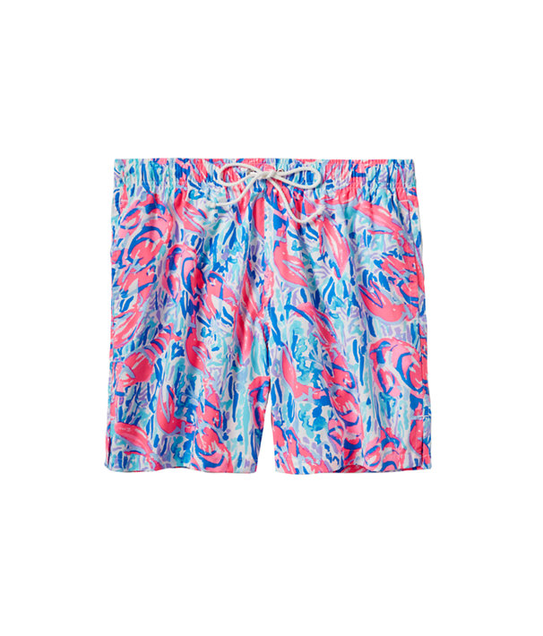 Mens Capri Swim Trunk, Cosmic Coral Cracked Up, large