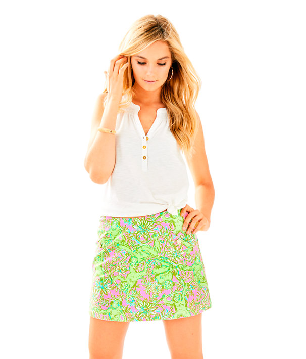 Madison Skort, Pelican Pink Pop Up Chimply Chic, large