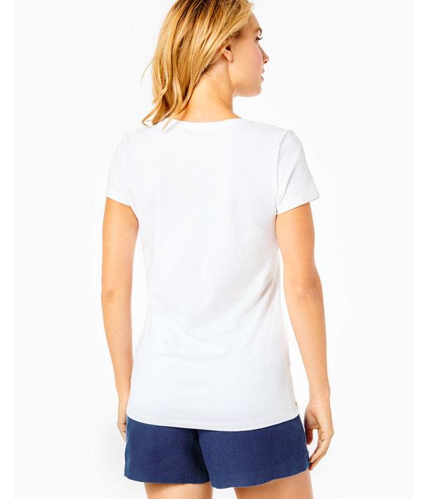 Michele V-Neck Top, Resort White, large