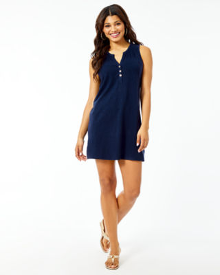 Sleeveless Essie Dress, True Navy, large