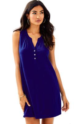 Sleeveless Essie Dress, Twilight Blue, large
