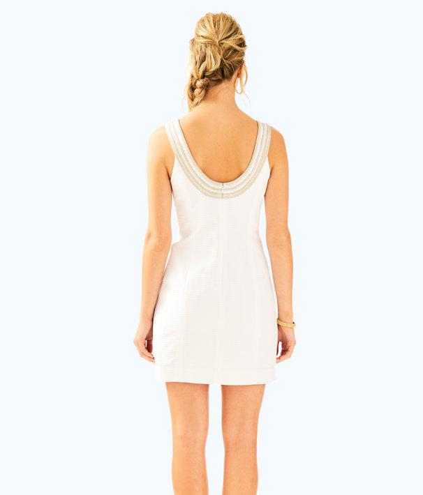 Valli Shift Dress, Resort White, large