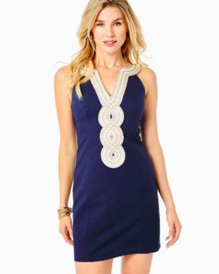 Valli Shift Dress, True Navy, large 3