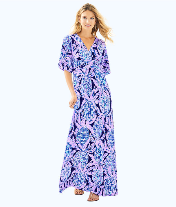 Parigi Maxi Dress, Lilac Verbena Pop Up Coco Safari, large