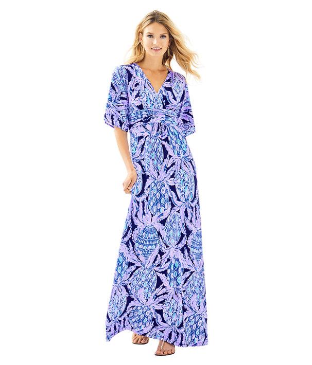 Parigi Maxi Dress, Lilac Verbena Pop Up Coco Safari, large
