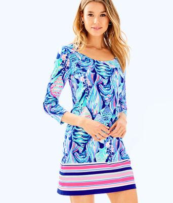 Beacon T-Shirt Dress, Twilight Blue Scale Up Engineered Dress, large