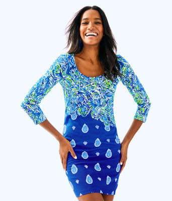 Beacon T-Shirt Dress, Twilight Blue Show Down Engineered Dress, large