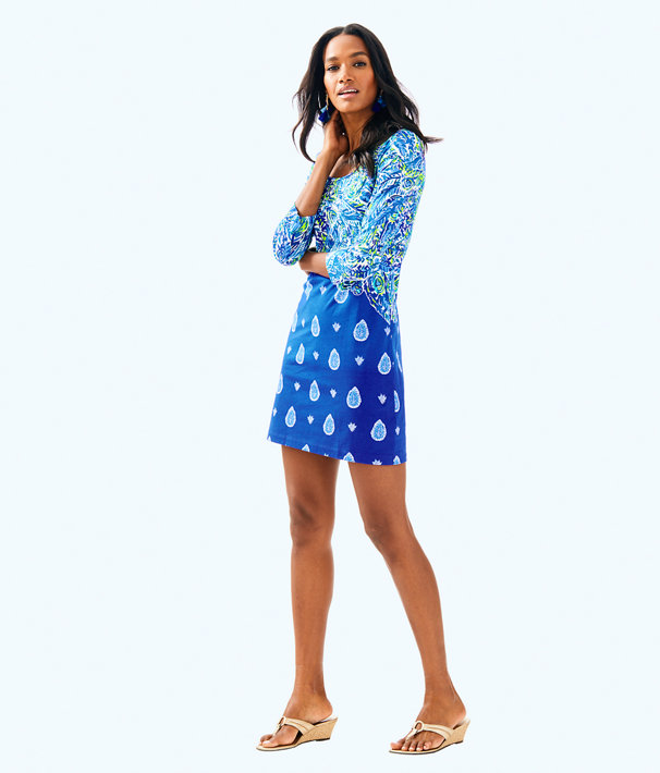 Beacon T-Shirt Dress, Twilight Blue Show Down Engineered Dress, large