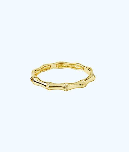 Bambu Bracelet, Gold Metallic, large