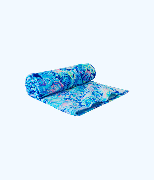 Printed Beach Towel, Multi Ocean Commotion Towel, large