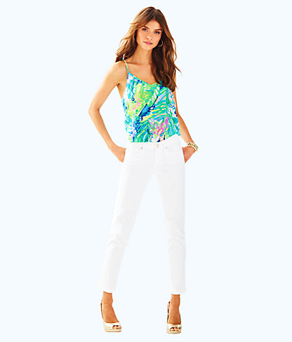"26.5"" South Ocean Crop Jean, Resort White, large"