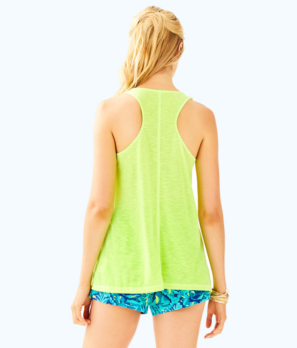 Luxletic Anisa Tank Top, Loro Green, large