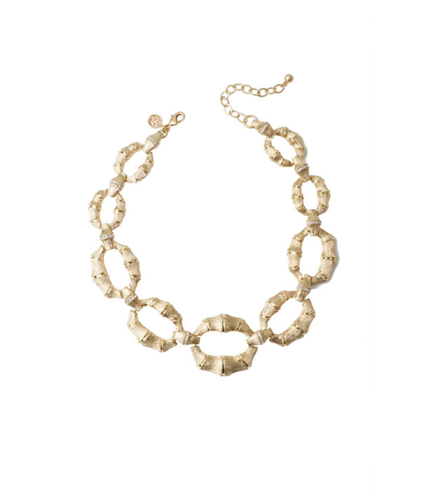 Bamboom Bamboo Link Necklace, Gold Metallic, large