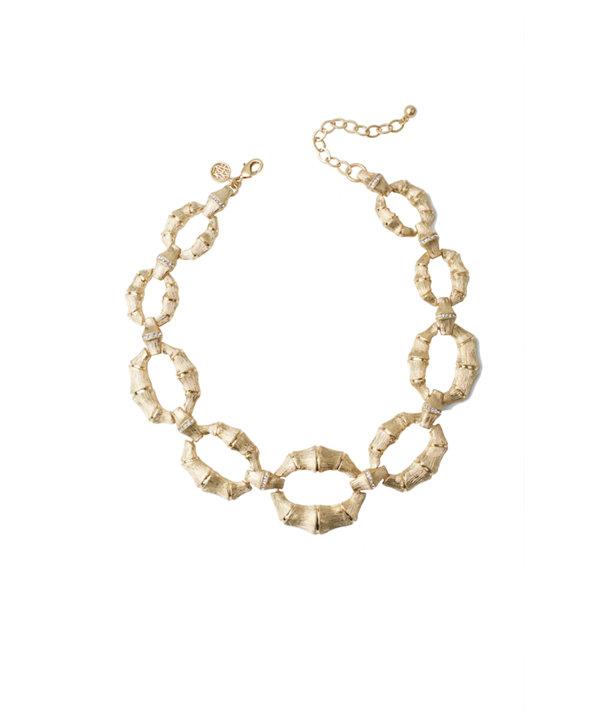 Bamboom Bamboo Link Necklace, Gold Metallic, large