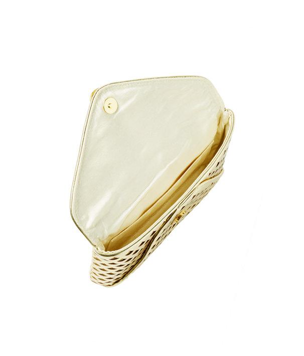 Pineapple Clutch, Gold Metallic, large