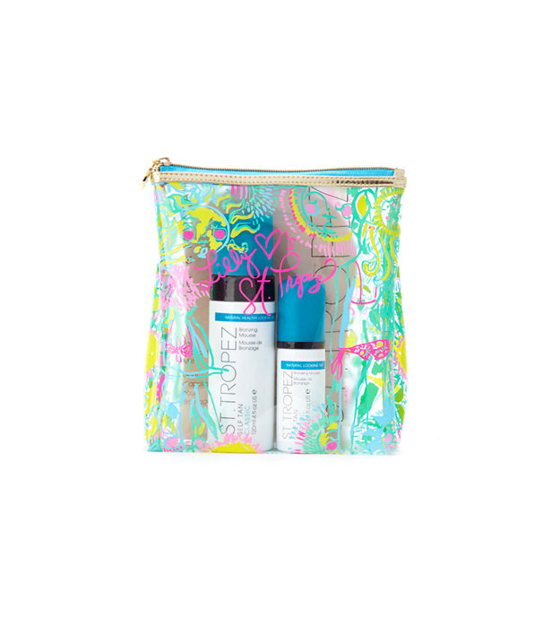 St. Tropez + Lilly Pulitzer - The Ultimate Escape Kit, Poolside Blue Kinis In The Keys Accessories Small, large