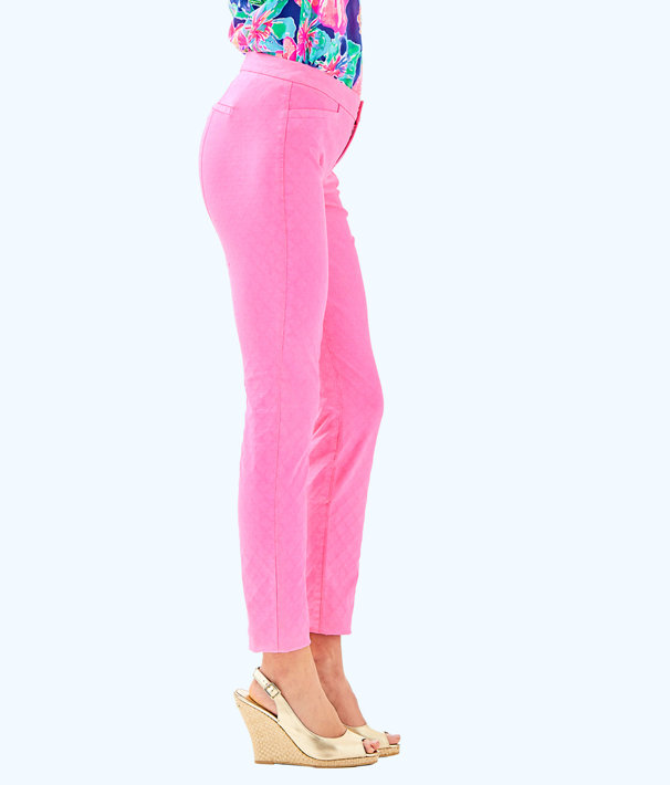 "29"" Kelly Textured Ankle Length Skinny Pant, Pink Sunset, large"