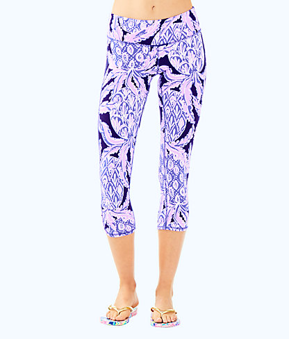 "UPF 50+ Luxletic 21"" Weekender Cropped Legging, Beckon Blue Coco Safari, large"