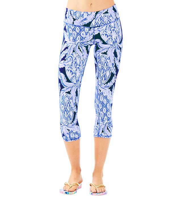 "UPF 50+ Luxletic 21"" Weekender Cropped Legging, Beckon Blue Coco Safari, large"