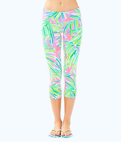 "UPF 50+ Luxletic 21"" Weekender Cropped Legging, Pink Sunset Royal Lime, large"