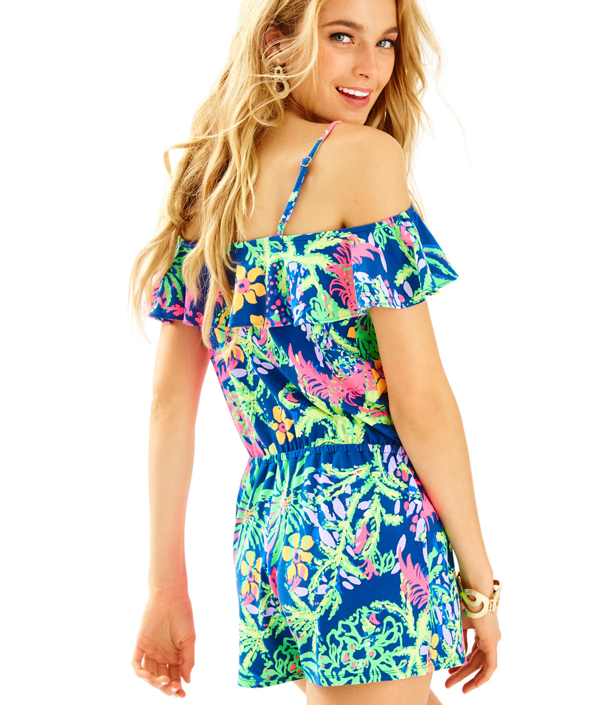 Lilly Pulitzer Klea Off The Shoulder Romper