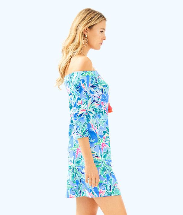 Laurana Off The Shoulder Dress, Bennet Blue Celestial Seas, large