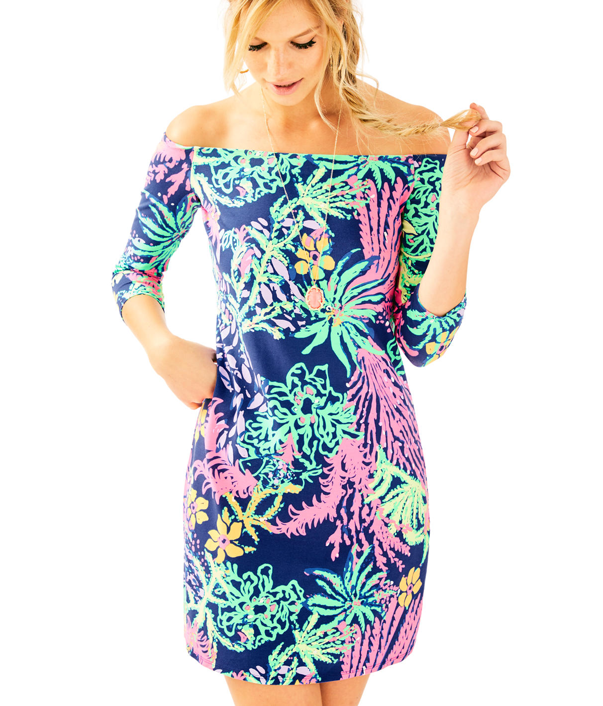 Lilly Pulitzer Laurana Off The Shoulder Dress