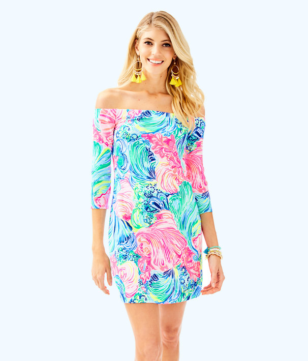 Laurana Off The Shoulder Dress, Multi Beach Please, large