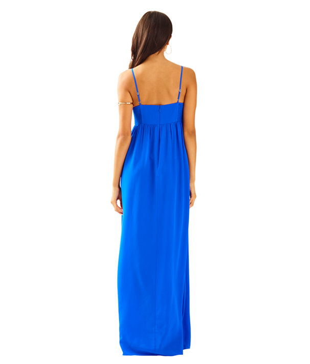 Kelsea Silk Maxi Dress, Brilliant Blue, large