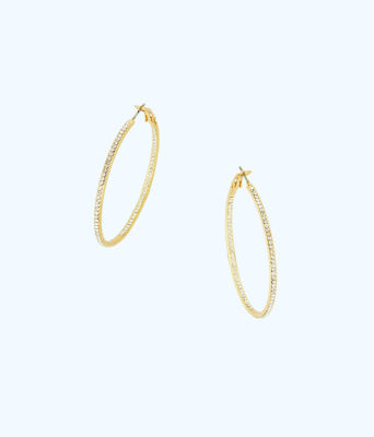 Stardust Hoop Earrings, Gold Metallic, large 0