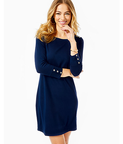 UPF 50+ Sophie Dress, True Navy, large