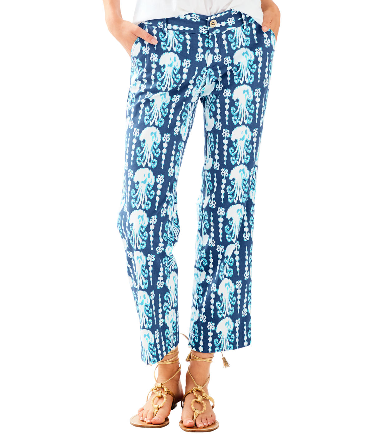 Lilly Pulitzer Cocoanut Walk Crop Pant