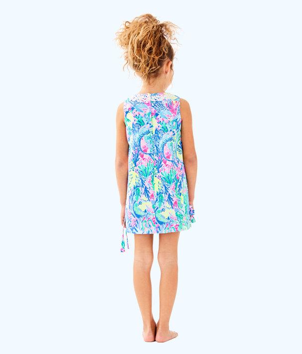 Girls Little Lilly Classic Shift Dress, Multi Mermaids Cove, large