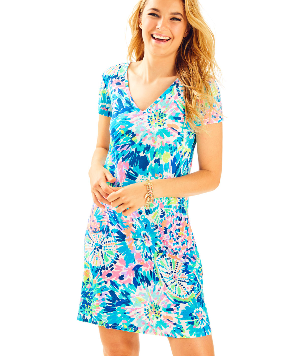 Lilly Pulitzer Lilly Pulitzer Womens Jessica Short Sleeve Dress