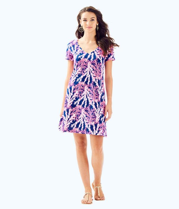 Jessica Short Sleeve Dress, Nauti Navy Beyond The Sea, large