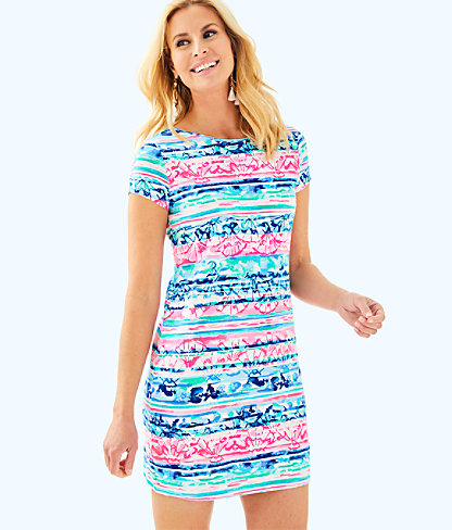 Short Sleeve Marlowe Dress, Multi A Wave From It All, large