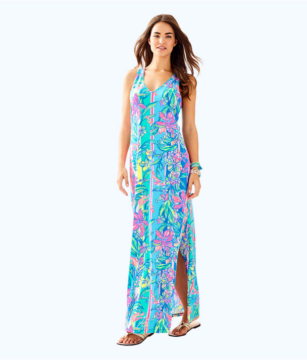 Kerri Maxi Dress, Multi Easy Tiger Allover, large