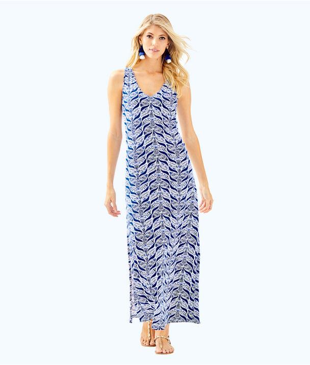 Kerri Maxi Dress, Resort White A Mermaids Tail, large