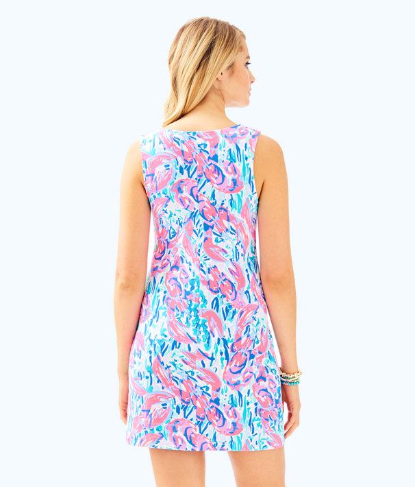 Harper Shift Dress, Cosmic Coral Cracked Up, large