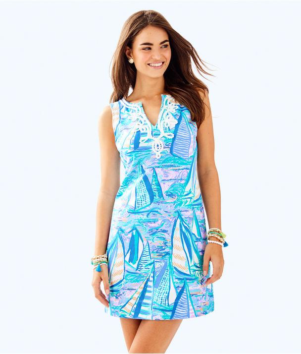Harper Shift Dress, Light Lilac Verbena Aboat Time, large