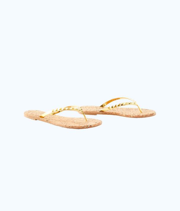 Mira Sandal, Gold Metallic, large