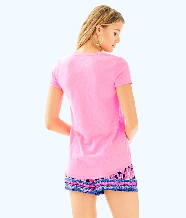 Etta V-Neck Top, Pink Sunset, large